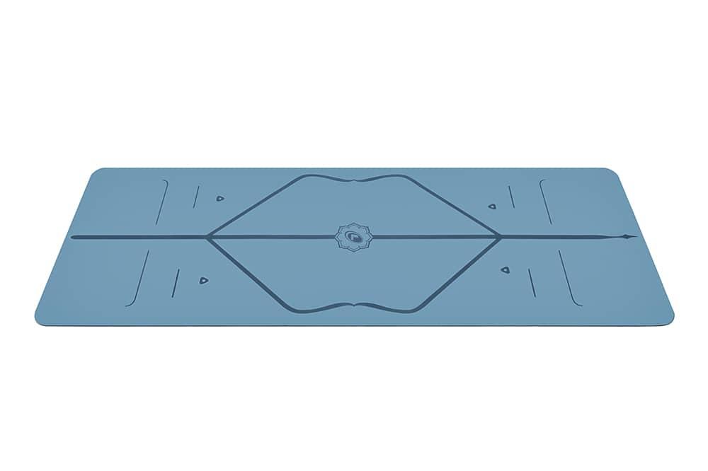 blue liforme yoga mat